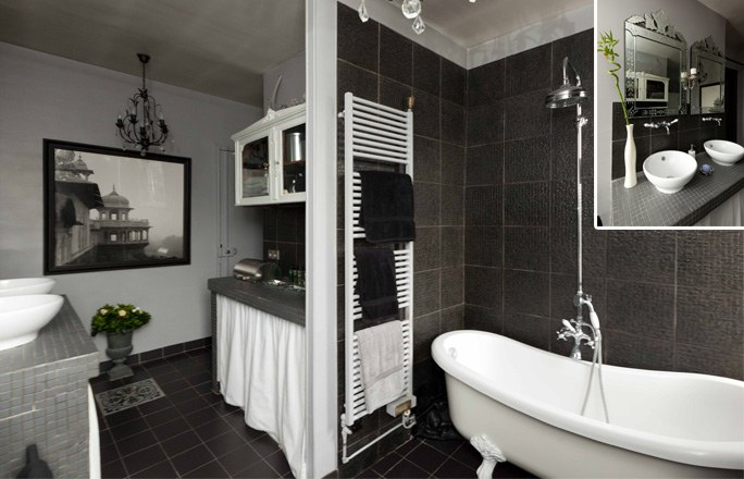 deco salle de bain carrelage noir et blanc. Black Bedroom Furniture Sets. Home Design Ideas