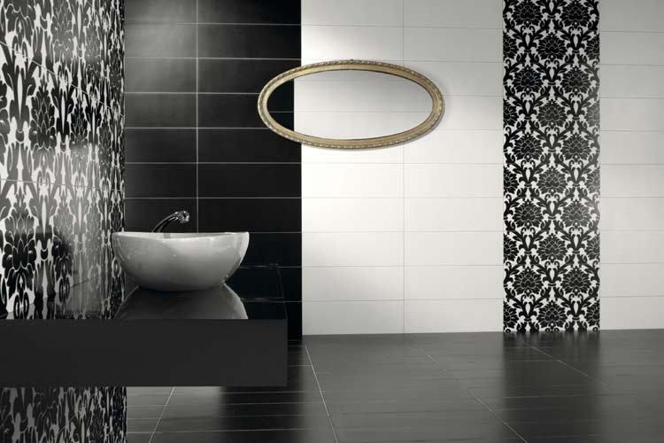 Stunning Photo Carrelage Salle De Bain Noir Et Blanc Ideas ...