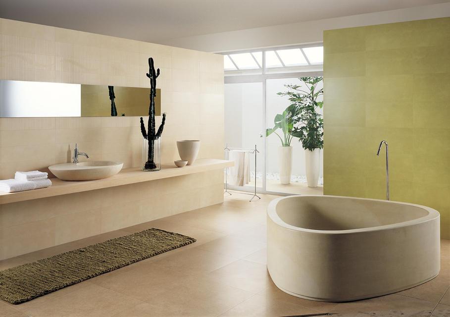 modèle deco salle de bain gris et beige