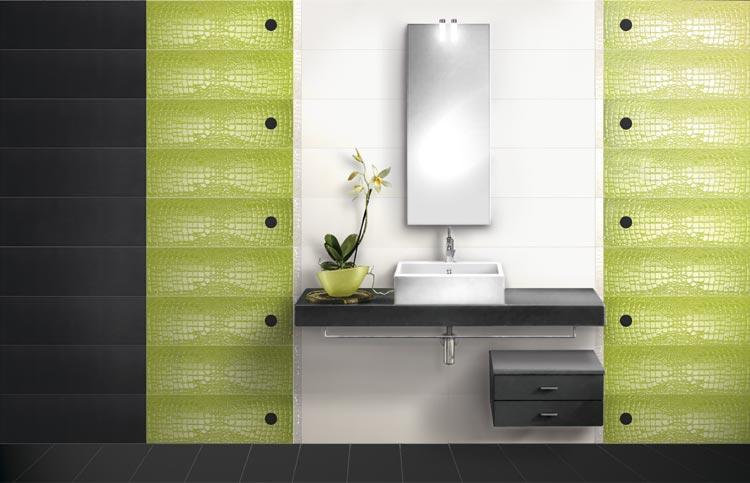 emejing salle bain verte et bleu images - amazing house design ... - Salle De Bain Verte Et Grise