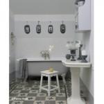 deco salle de bain gris et blanc