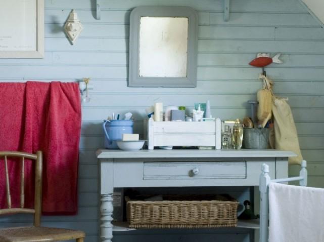 photo deco salle de bain gris et bleu - Decoration Salle De Bain Bleu