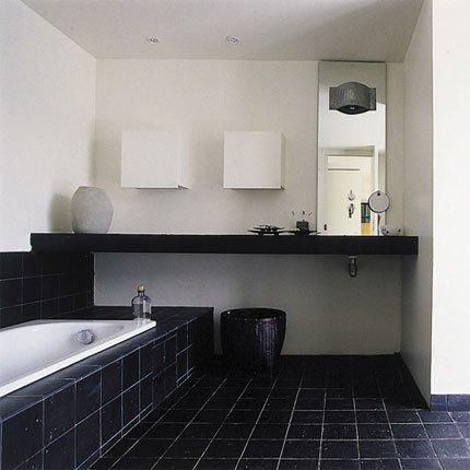 univers deco salle de bain gris et noir