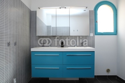 deco salle de bain gris et turquoise. Black Bedroom Furniture Sets. Home Design Ideas