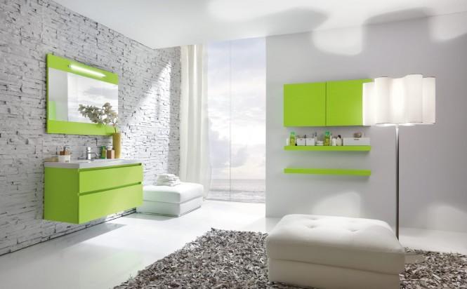 univers deco salle de bain gris et vert - Salle De Bain Verte Et Grise
