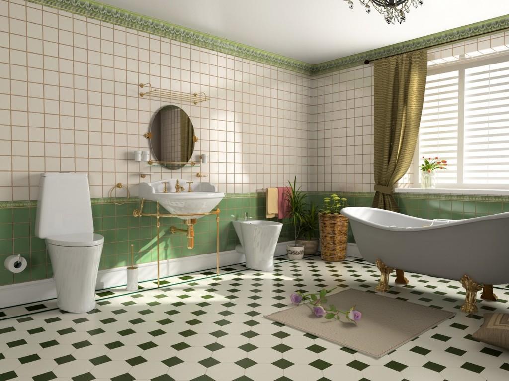 deco salle de bain retro - Photo Déco