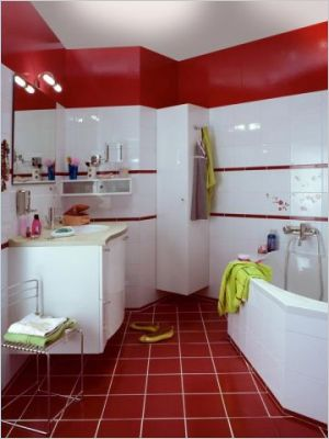 Best Salle De Bain Rouge Noir Et Blanc Gallery - Amazing House ...