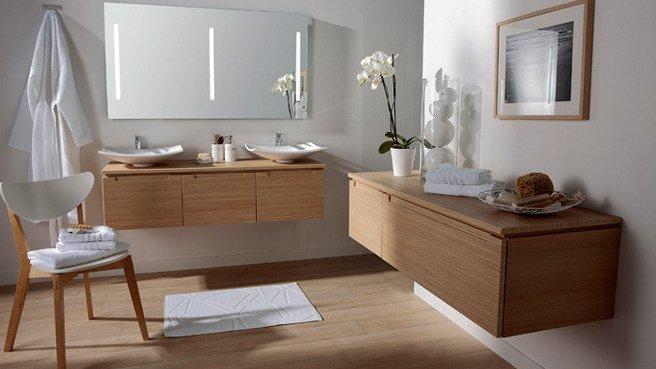 organisation deco salle de bain zen bois