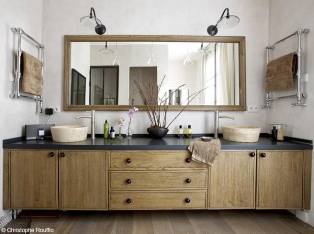 Deco salle de bains bois for Idee deco salle de bain bois