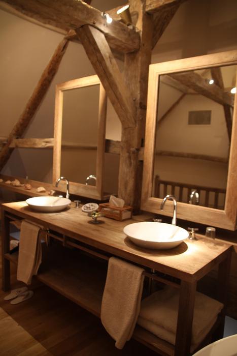 Deco salle de bains bois for Salle de bain deco bois