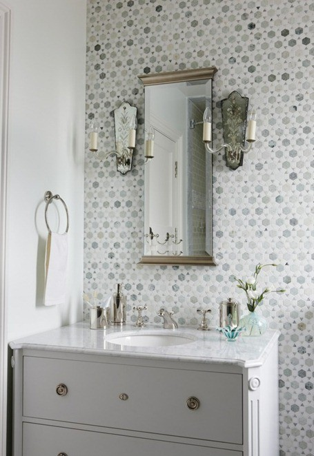 Exemple Deco Salle De Bains Carrelage - Exemple carrelage salle de bain