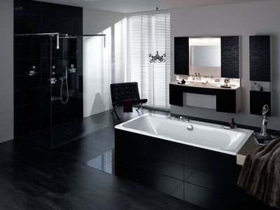 deco salle de bains noir et blanc. Black Bedroom Furniture Sets. Home Design Ideas