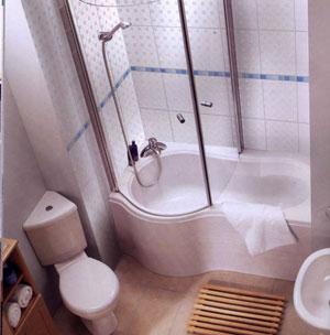 Deco salle de bains petite for Decoration petite salle de bain