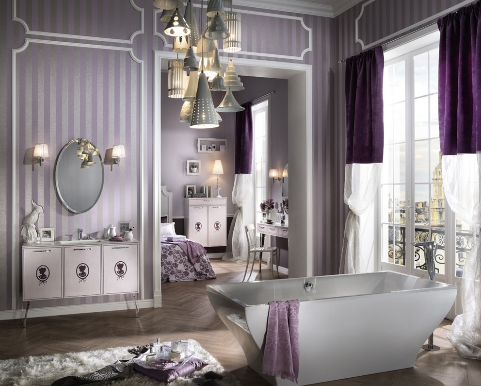 idee deco salle de bain moderne. Black Bedroom Furniture Sets. Home Design Ideas