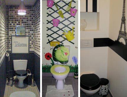 aménagement deco toilettes originales