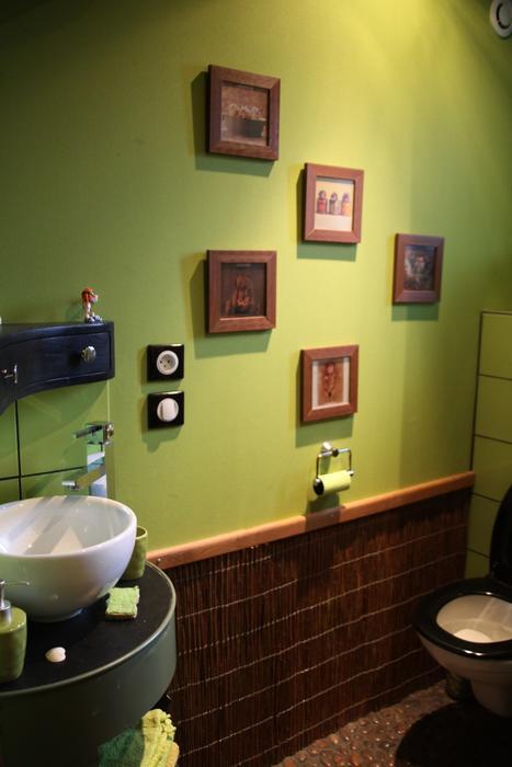 deco wc gris et vert. Black Bedroom Furniture Sets. Home Design Ideas
