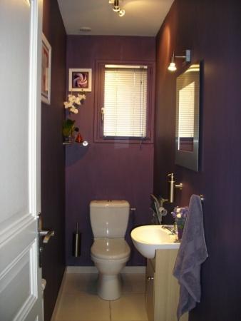 deco wc gris et violet. Black Bedroom Furniture Sets. Home Design Ideas