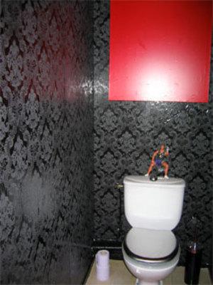 deco wc papier peint. Black Bedroom Furniture Sets. Home Design Ideas