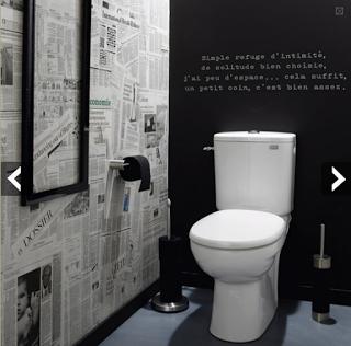 aménagement decoration des wc des toilettes originales - Photo Déco