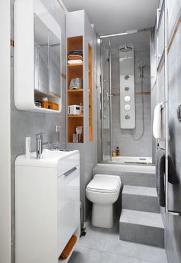 Decoration salle de bain petit espace - Organisation salle de bain ...