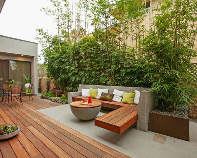 D co de jardin avec bambou for Deco terrasse bambou