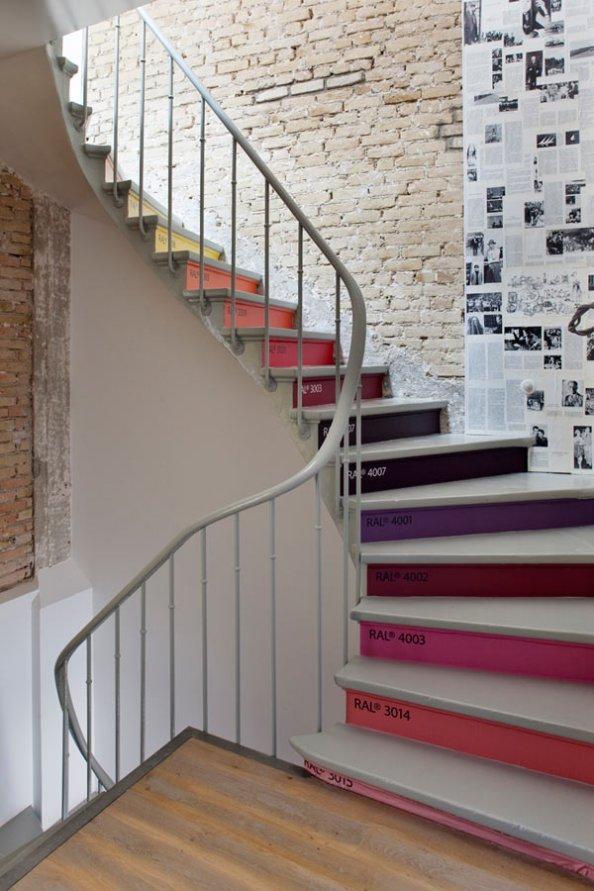 D co entr e avec escalier for Idee deco montee escalier