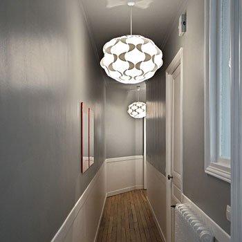 Photo déco entrée couloir gris
