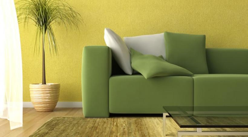 D co entr e jaune for Quelle couleur peinture pour associer a un jaune pour un salon