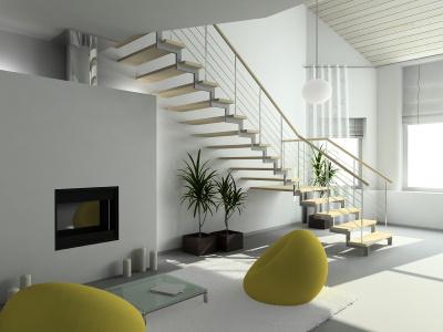 Escalier Maison. Awesome Maison Bois Massif En Seine U Marne With ...