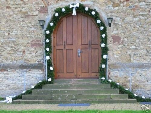 D co entree mariage for Decoration porte entree pour mariage