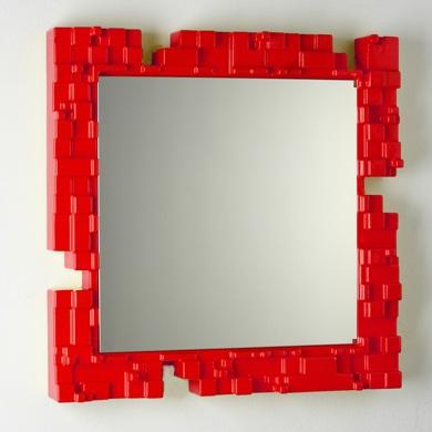 D co entr e miroir for Petit miroir deco