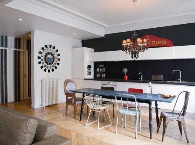 Deco entree ouverte for Deco cuisine avec chaise de sejour design