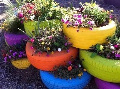 decoration de jardin avec recuperation