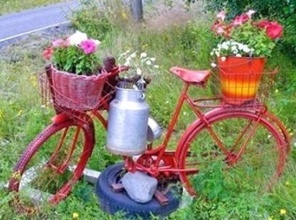 aménagement déco jardin avec récupération - Photo Déco