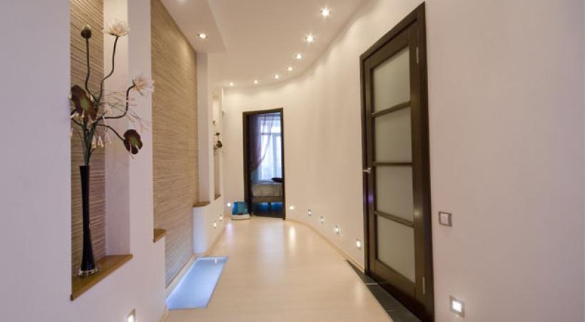 D co peinture couloir entr e - Modele de peinture pour couloir ...