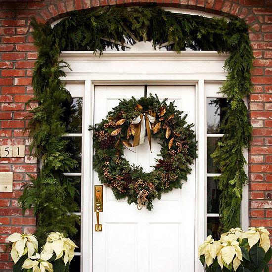 D co porte entr e noel - Decoration de noel pour porte ...
