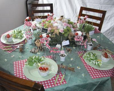decoration de table jardin