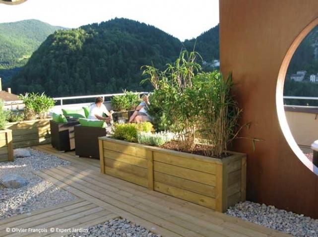 d co terrasse zen. Black Bedroom Furniture Sets. Home Design Ideas