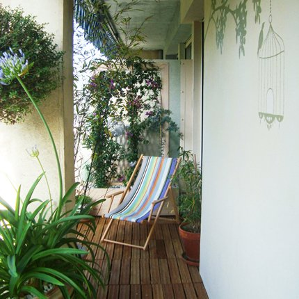 D coration balcon terrasse appartement for Idee deco pas cher appartement