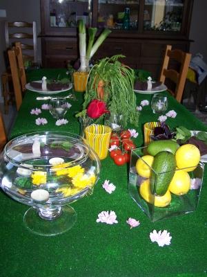 D co de table jardin for Table de jardin deco
