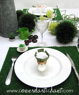 univers décoration de table jardin