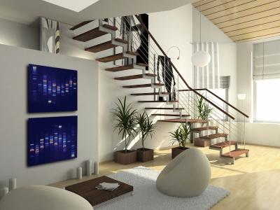 Jolie décoration d\'une maison neuve
