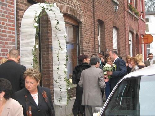 décoration entree maison mariage