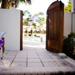 décoration entrée jardin