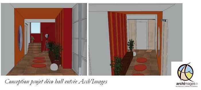 D coration entr e peinture - Idee couleur hall d entree ...
