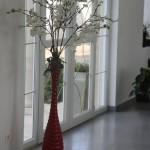 décoration entrée rouge