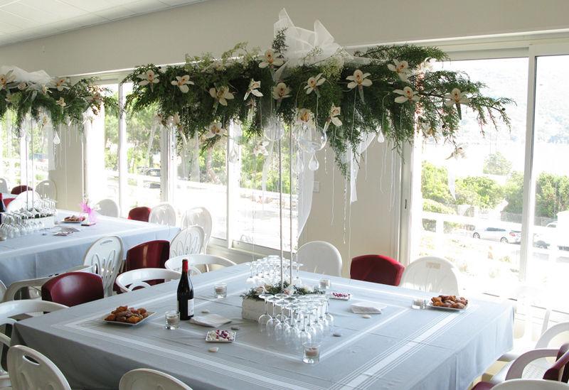 décoration entrée salle mariage