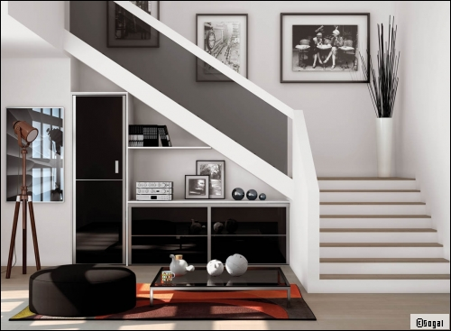 d coration hall d entr e escalier. Black Bedroom Furniture Sets. Home Design Ideas