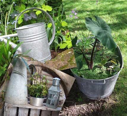D coration jardin r cup for Deco jardin avec recup