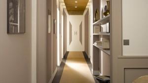 Photo décoration peinture couloir entrée